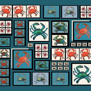 crab cheater quilt - small