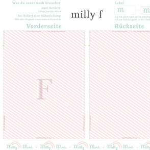 milly mint monogram F bag pattern