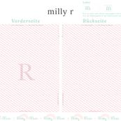 milly mint monogram R bag pattern