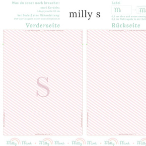 milly mint monogram S bag pattern