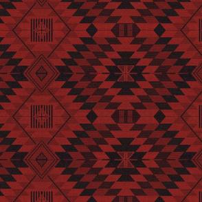 geometric kilim red and black