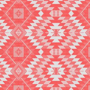 geometric kilim coral