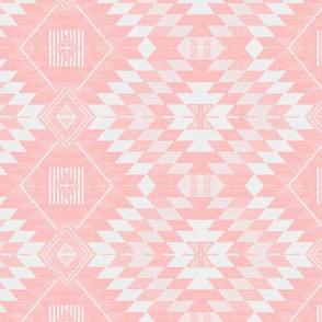 geometric kilim light pink