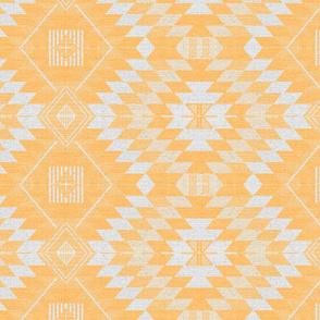 geometric kilim yellow