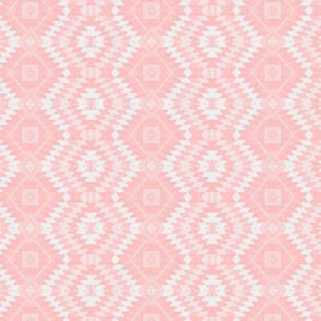 geometric kilim light pink small scale