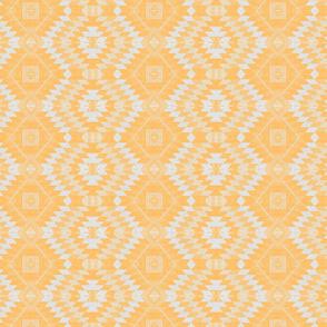 geometric kilim yellow small scale