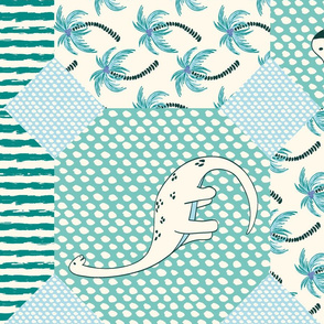dinosaur cheater quilt
