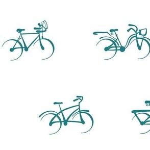 Little Vintage Bikes | Teal on White