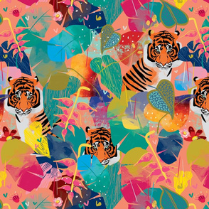 Bohemian Rhapsody Tiger pink by Mount Vic and Me