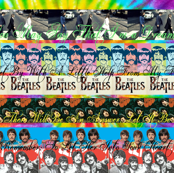 The Beatles Stripe Collage