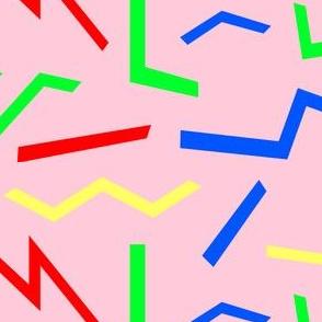 Pop Shapes Primaries on Pink