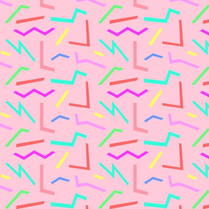 Pop Shapes Pink Pastels