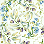 blueberry olive pattern