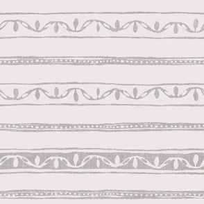small dots and lines on cream linen