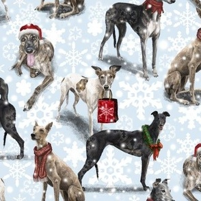 Christmas Greyhounds
