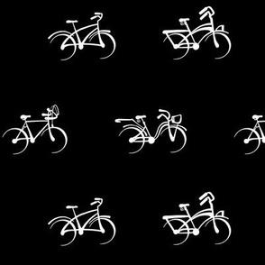 Little Vintage Bikes | White on Black