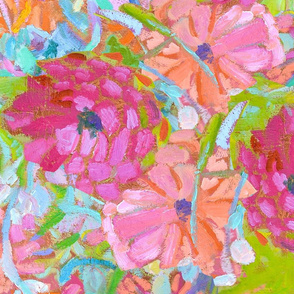 Jewel Tone Wildflowers Large Repeat
