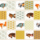 CHEATER_QUILT_animal portrait PANEL