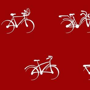 Little Vintage Bikes   Deep Red