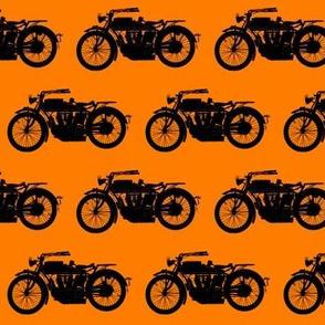 Antique Motorcycles on Orange