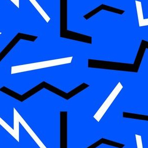Pop Shapes on Blue