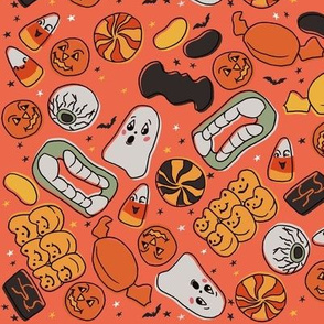 Vintage Orange Halloween Treats