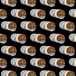 (extra small) burritos - black - tex-mex food  LAD19BS