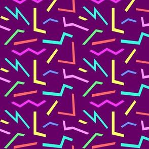 Mini Pop Shapes Bright Pastels on Purple