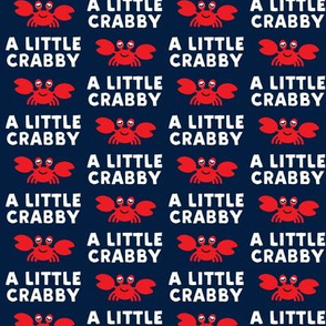 (extra small scale) a little crabby - navy - nautical summer - LAD19BS