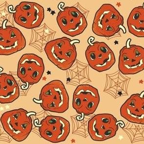 Vintage Pumpkins on Tan
