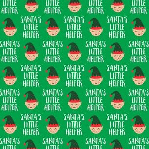 (extra small scale) Santa's Little Helper with cute elf - green - LAD19BS