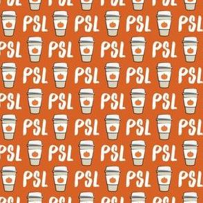 (extra small scale) Pumpkin Spice - PSL (orange) -Coffee Cups - Latte - Pumpkin fall drink - LAD19BS