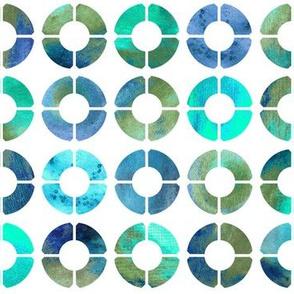 Watercolor Rings - Ocean