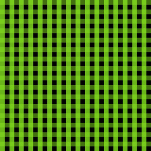 Gingham - Black and Green 001