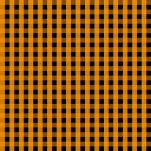 Gingham - Black and Orange 001