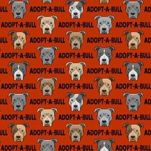 """(3/4"""" scale) Adopt-a-bull - pit bulls - American Pit Bull Terrier dog - rust - LAD19BS"""