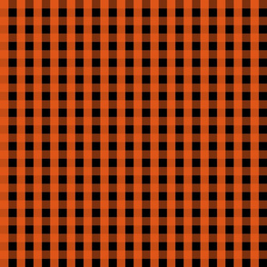 Gingham - Black and Orange 002