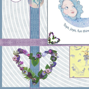 Whispering Daydreams Baby Quilt Top