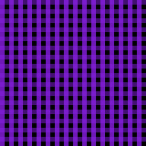 Gingham - Black and Purple 001