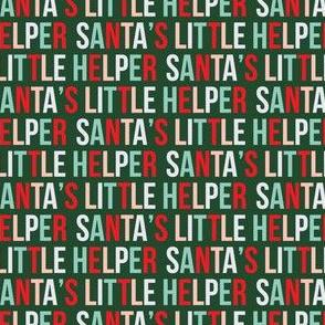 "(1/2"" scale) Santa's Little Helper - Multi with pink on dark green - LAD19BS"