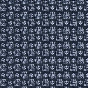 """(1/2"""" scale) Baby It's Cold Outside -  blue on blue - Christmas Winter Holiday - LAD19BS"""