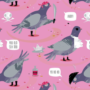 Pigeon Pirates pink by Mount Vic and Me