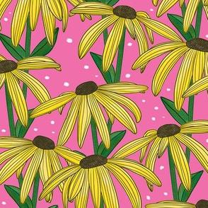 Yellow Daisy (Pink Background)