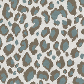 Leopard in Duck egg Grey Taupe