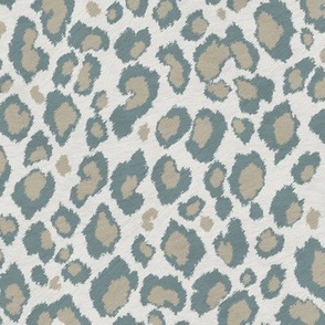 Leopard in Duck egg Beige Grey