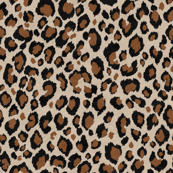 Leopard beige black rust brown