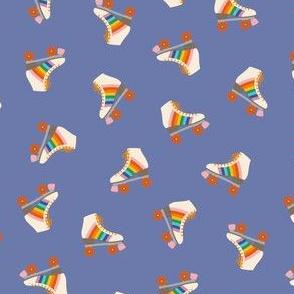 Rainbow Roller Skates - Periwinkle