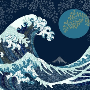 Wave of Kanagawa Cheater Quilt