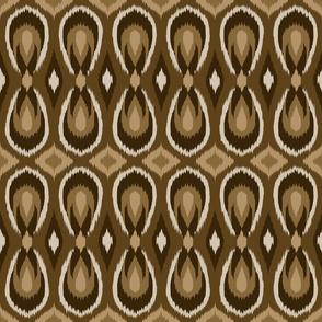 teardrop ikat brown