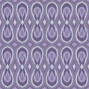 teardrop ikat lavenders